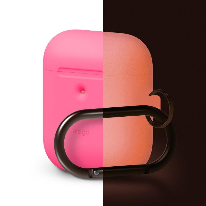 [ELAGO] AirPods 무선 Hang Case - 네온 핑크