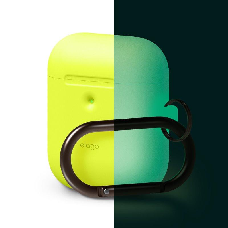 [ELAGO] AirPods 무선 Hang Case - 네온 옐로우