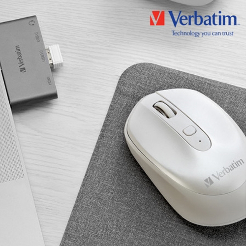 [VERBATIM] Wireless Mouse Rechargeable White