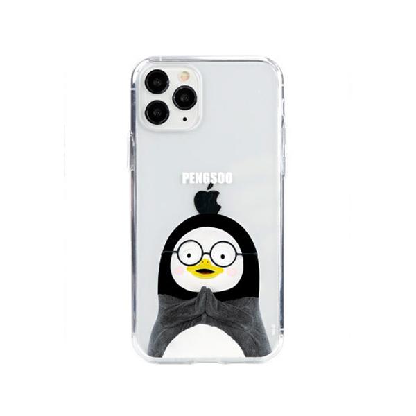 [자이언트펭] 안경 펭수 iPhone 11 Pro 젤하드 케이스