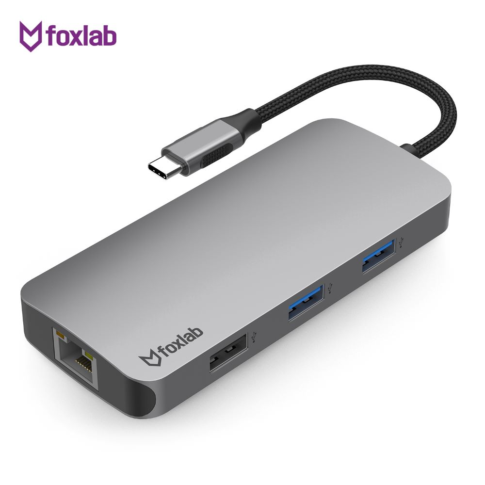 [foxlab] USB-C Multi-Port Hub for Mac & PC