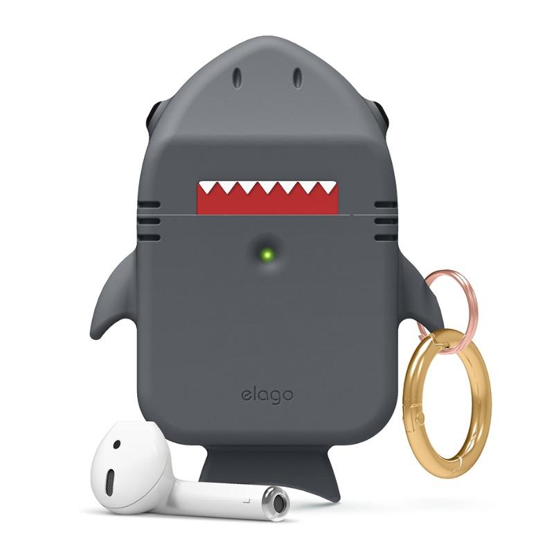 [엘라고] Shark AirPods Case 다크그레이