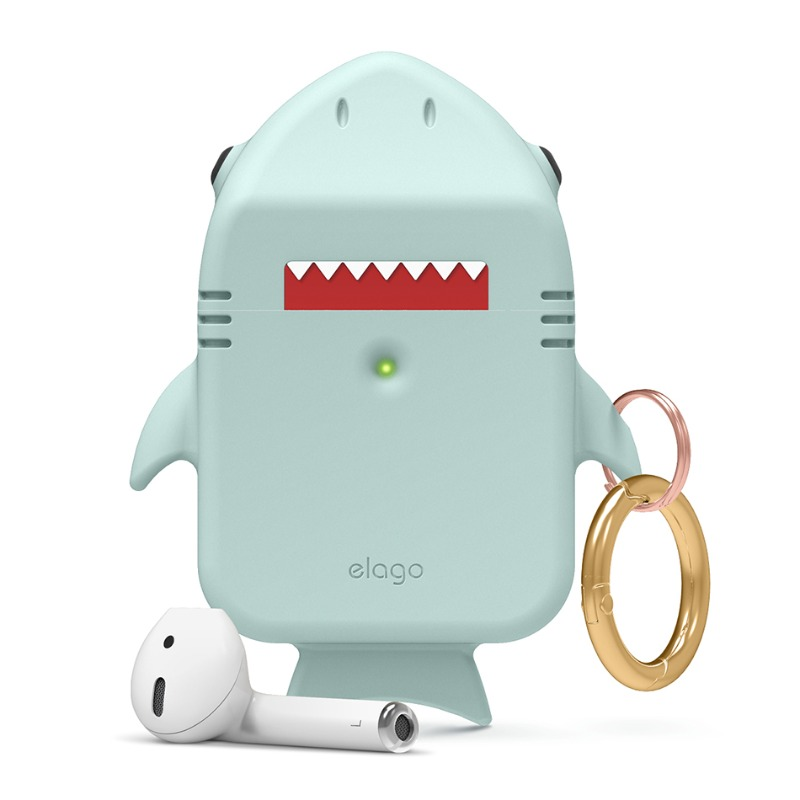 [엘라고] Shark AirPods Case 민트