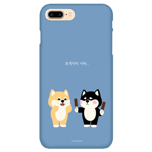 [SHIRO&MARO] 슬림핏 케이스 쪼개지마 시바 - iPhone XS/X