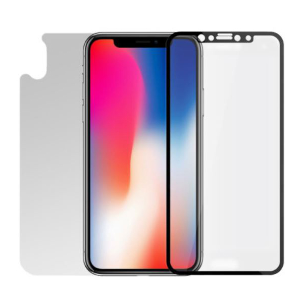 [TECH SUIT] iPhone X용 풀커버 강화유리 (후면 포함)