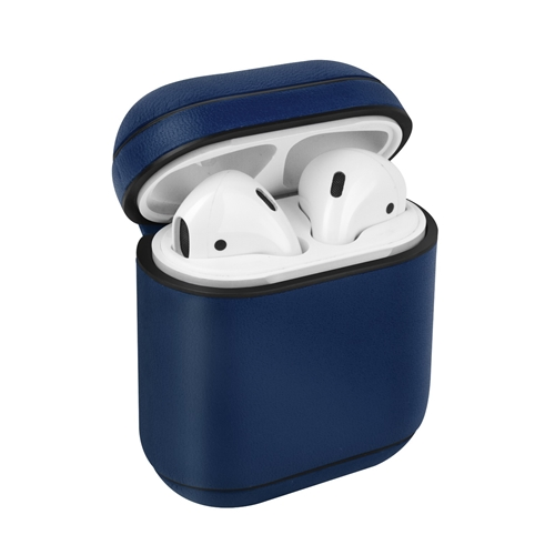 [UNIQ] Leather AirPods Snap Case - Blue
