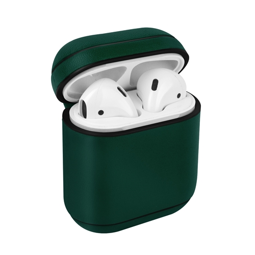 [UNIQ] Leather AirPods Snap Case - Pine