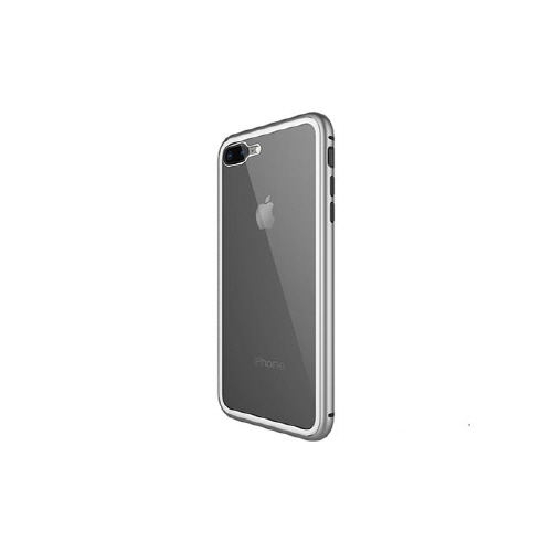 [WK] Magnetic Galss Case for iPhone 8/7 - Silver