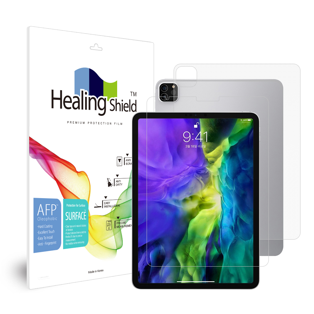 [Healing Shield] iPad  Pro 4세대 11 올레포빅 액정보호필름1매 후면1매