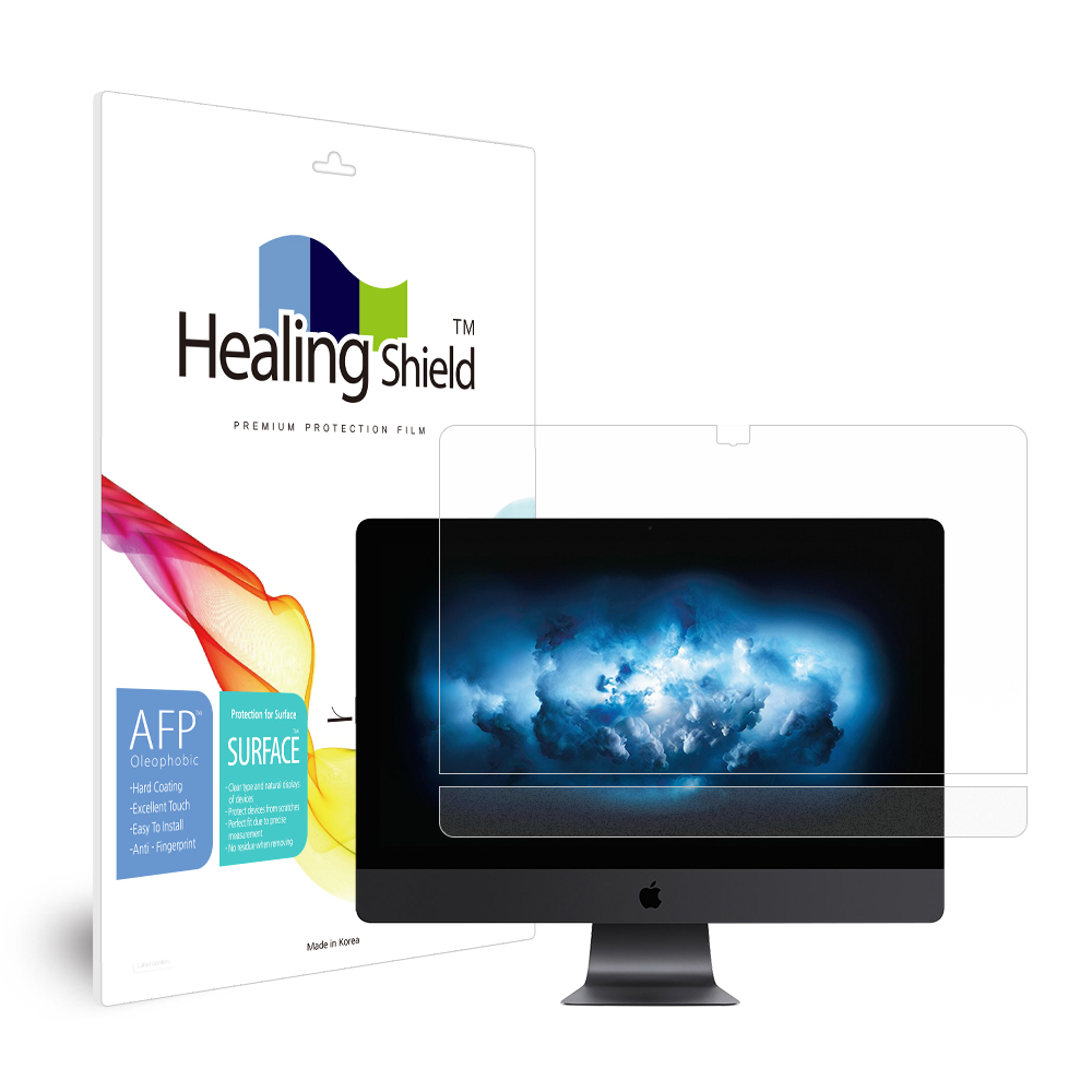 [Healing Shield] iMac 프로 27 올레포빅 액정보호필름1매 외부1매 세트