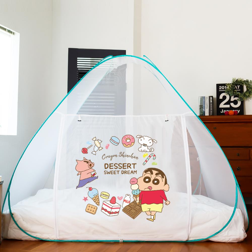 [LETO] 짱구 아기 대형 침대 원터치 모기장 텐트