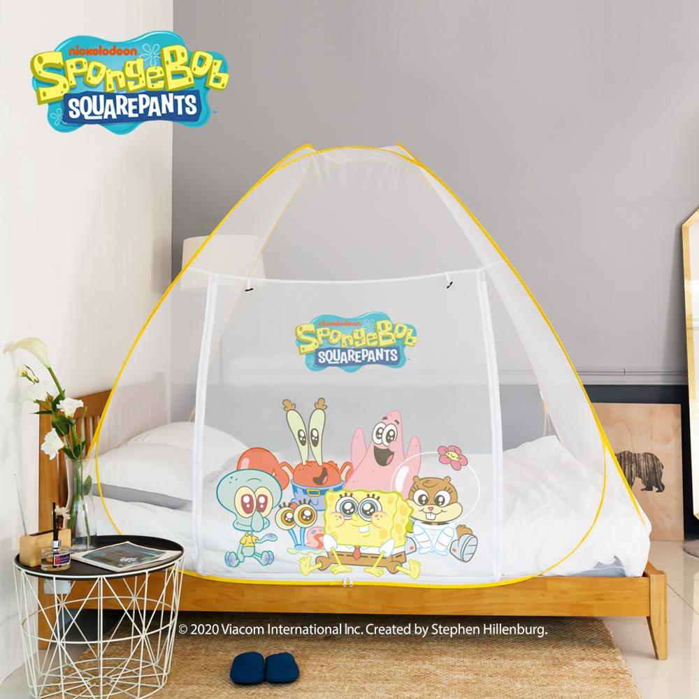 [LETO] 스폰지밥 아기 대형 침대 원터치 모기장 텐트