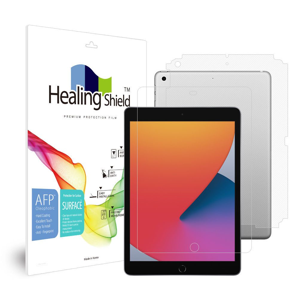 [Healing Shield] iPad  8세대 10.2 올레포빅 액정보호필름1매 후면1매