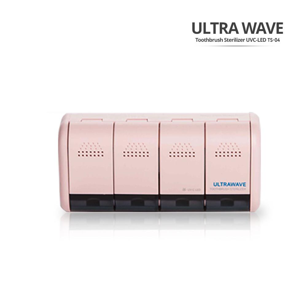 [ultrawave] 가정용 4인 칫솔 살균기 TS-04 핑크