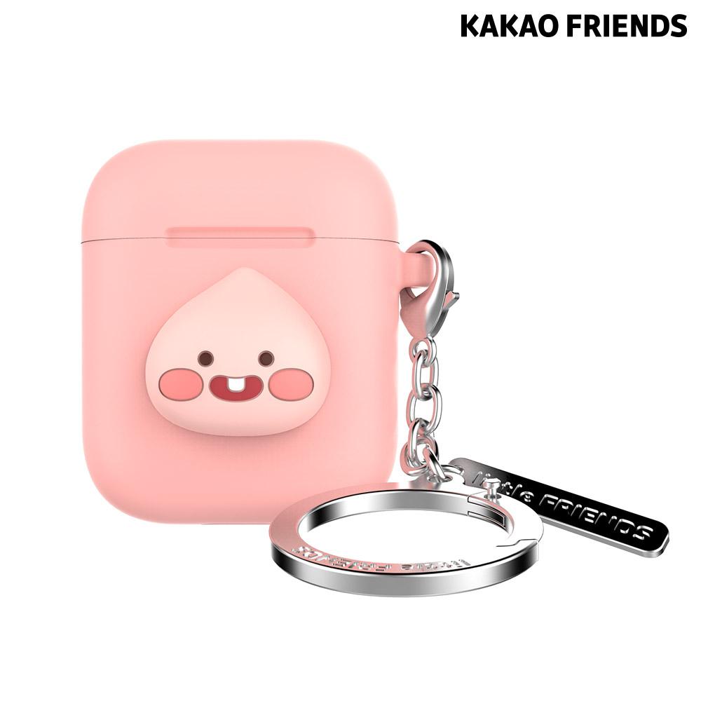 [KAKAO FRIENDS] 리틀프렌즈 에어팟 키링 케이스 - APEACH