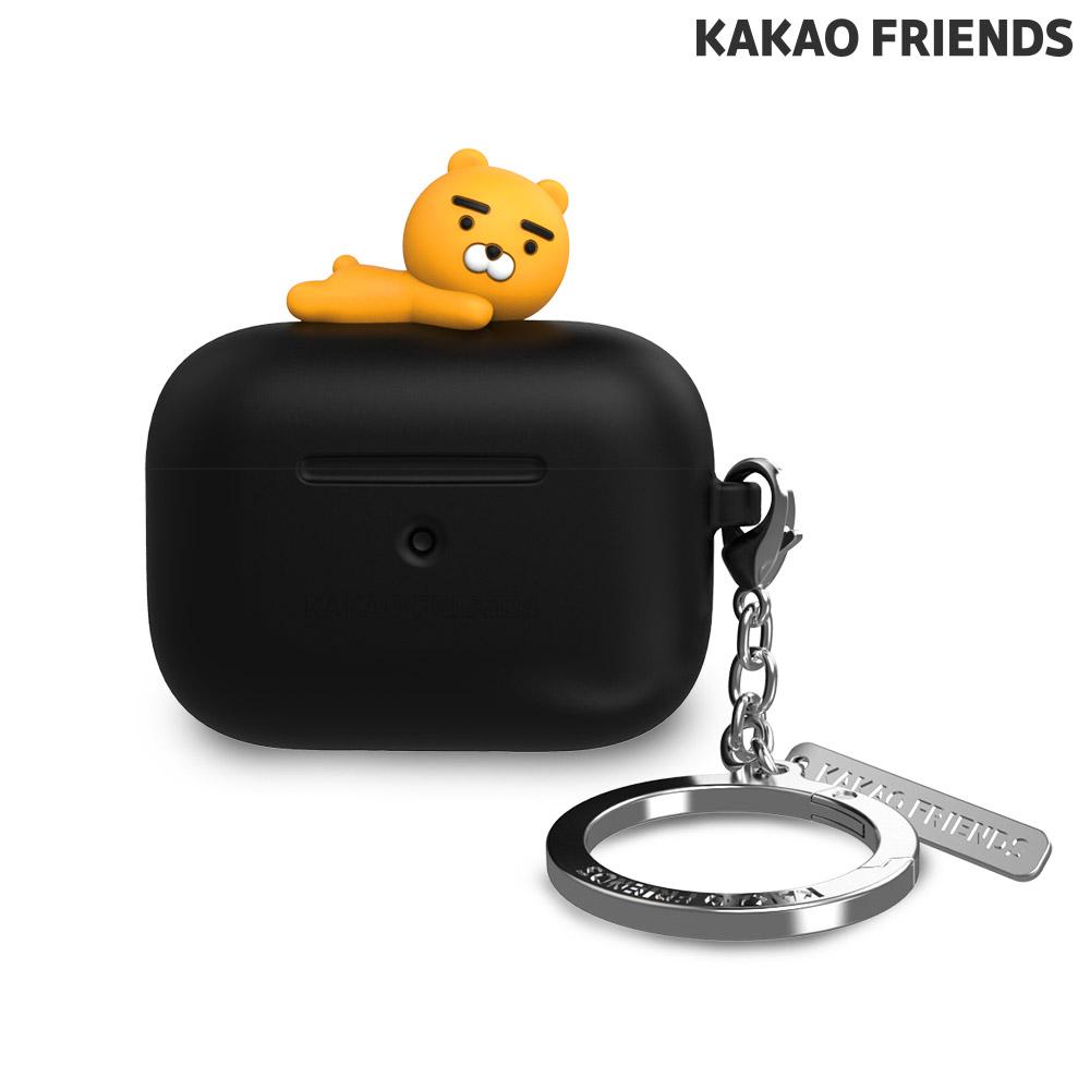 [KAKAO FRIENDS] 에어팟 프로 실리콘 케이스 라이언 블랙
