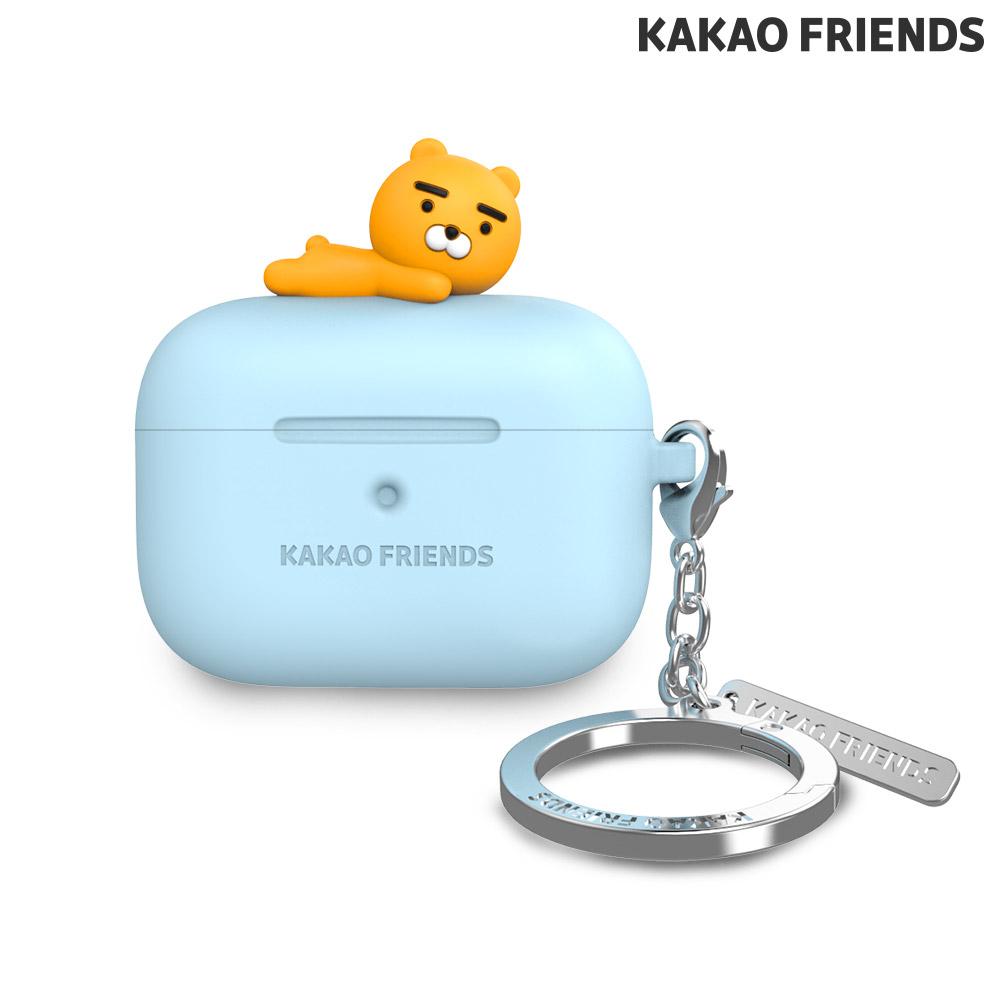 [KAKAO FRIENDS] 에어팟 프로 실리콘 케이스 라이언 블루