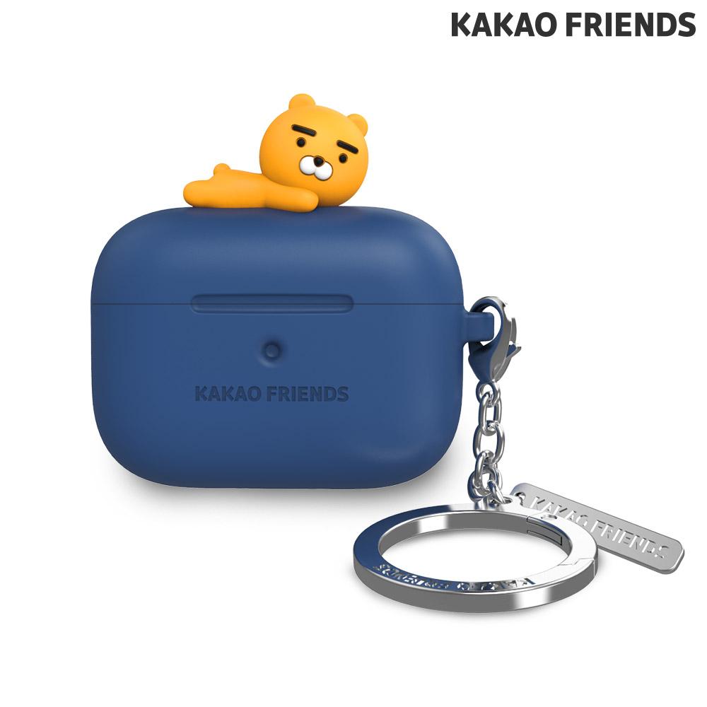 [KAKAO FRIENDS] 에어팟 프로 실리콘 케이스 라이언 네이비