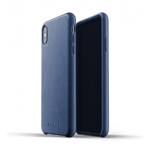 [MUJJO] Full Leather Case for iPhone XS Max - Blue