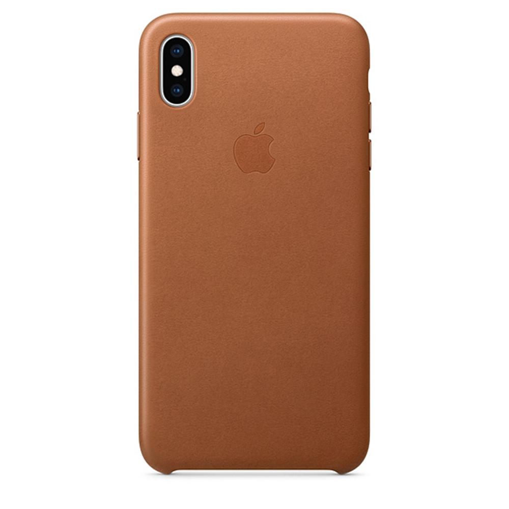 iPhone XS Max 가죽 케이스 - 새들브라운 (MRWV2FE/A)