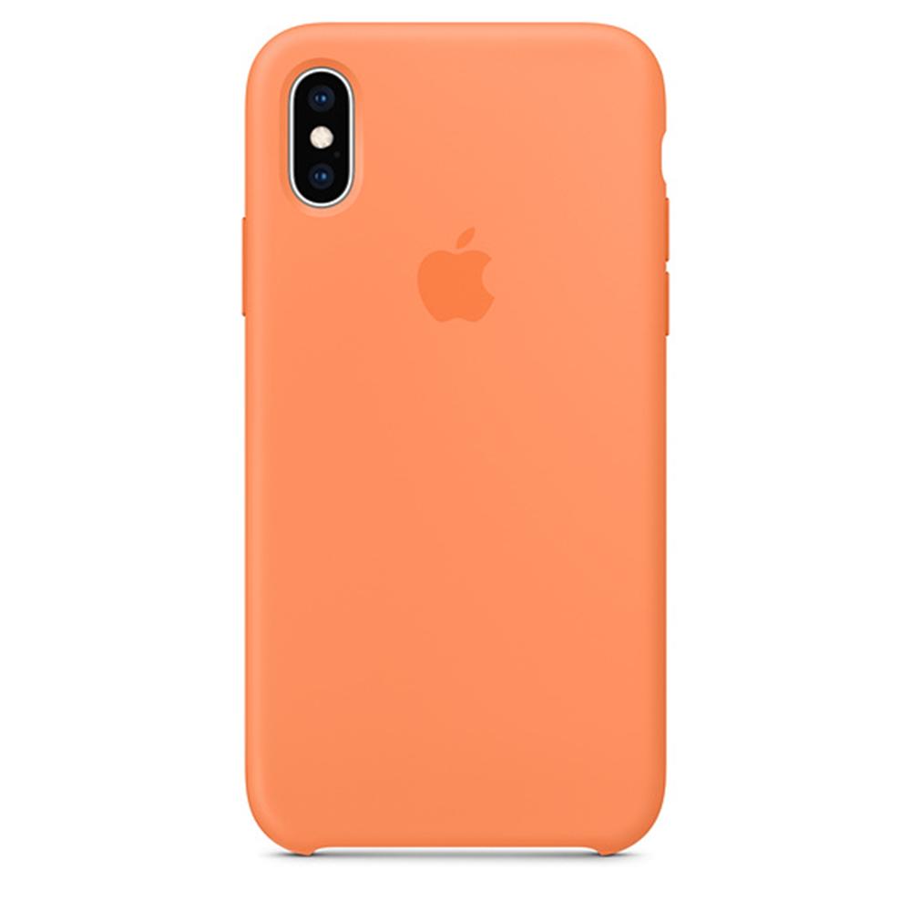 iPhone XS Max 실리콘 케이스 - 파파야 (MVF72FE/A)