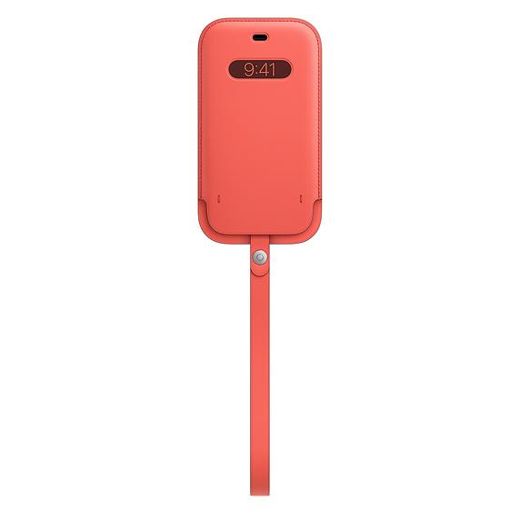 MagSafe iPhone 12/12 Pro 가죽 슬리브 - 핑크 시트러스 (MHYA3FE/A)