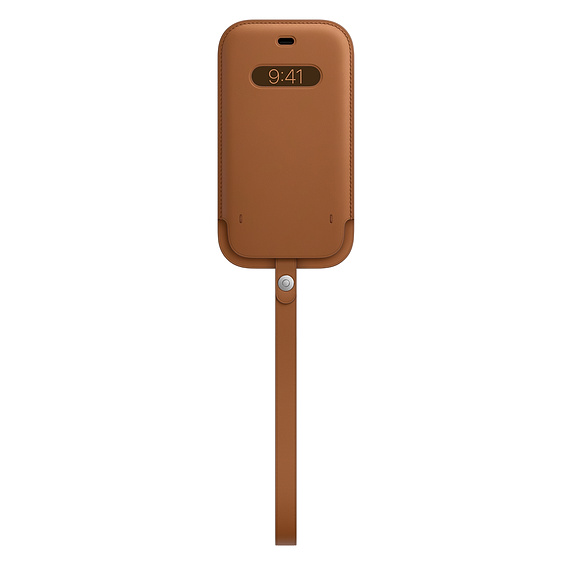 MagSafe iPhone 12/12 Pro 가죽 슬리브 - 새들 브라운 (MHYC3FE/A)
