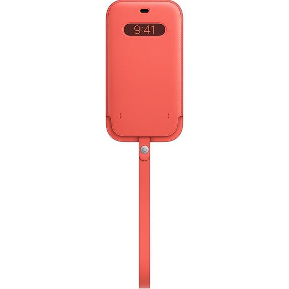 MagSafe iPhone 12 Pro Max 가죽 슬리브 - 핑크 시트러스 (MHYF3FE/A)