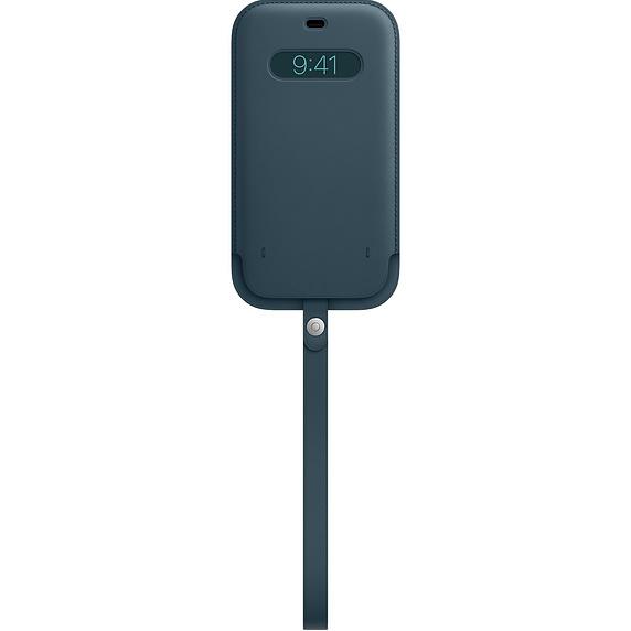 MagSafe iPhone 12 Pro Max 가죽 슬리브 - 발틱 블루 (MHYF3FE/A)