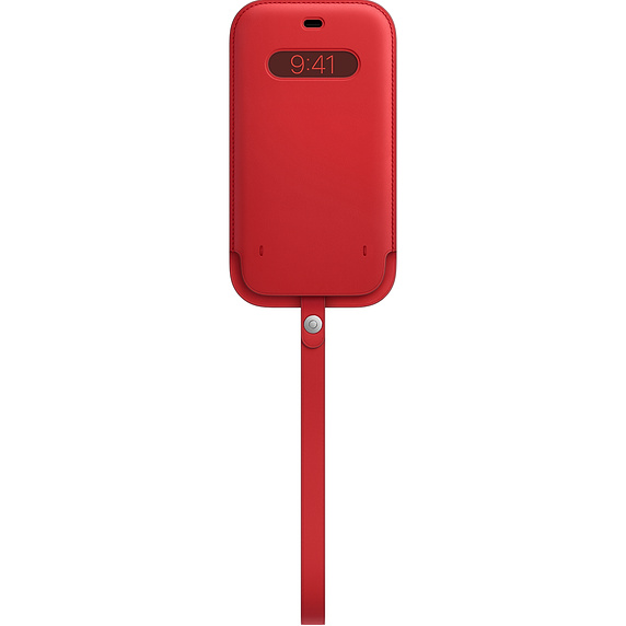 MagSafe iPhone 12 Pro Max 가죽 슬리브 - (PRODUCT)레드 (MHYJ3FE/A)