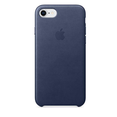 iPhone 8 & 7 가죽 케이스 - 미드나이트 블루