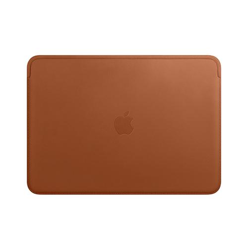 13형 MacBook Air 및 MacBook Pro용 가죽 슬리브 - 새들 브라운 (MRQM2FE/A)
