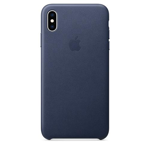 iPhone XS Max 가죽 케이스 - 미드나이트 블루 (MRWU2FE/A)