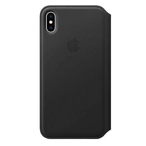 iPhone XS Max 가죽 폴리오 케이스 - 블랙 (MRX22FE/A)