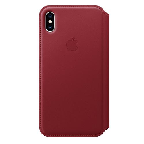 iPhone XS Max 가죽 폴리오 케이스 - (PRODUCT)RED (MRX32FE/A)