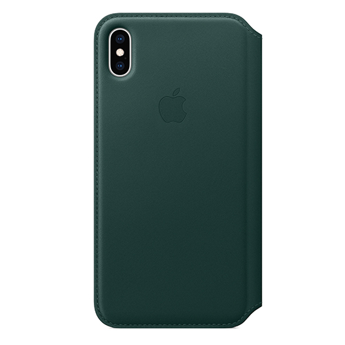 iPhone XS Max 가죽 폴리오 케이스 - 포레스트 그린 (MRX42FE/A)