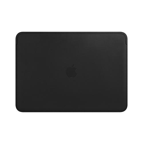 12형 MacBook용 가죽 슬리브 - 블랙 (MTEG2FE/A)