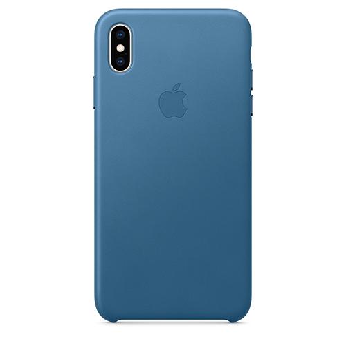 iPhone XS Max 가죽 케이스 - 케이프코드 블루 (MTEW2FE/A)