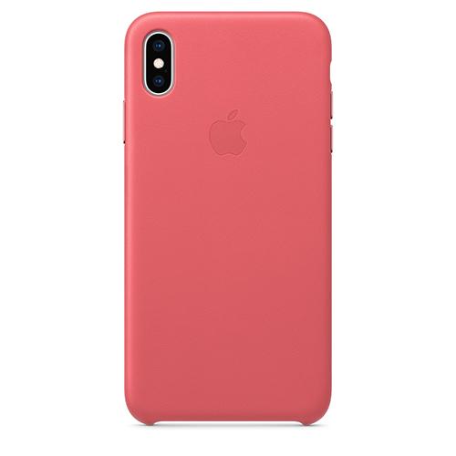 iPhone XS Max 가죽 케이스 - 피오니 핑크 (MTEX2FE/A)