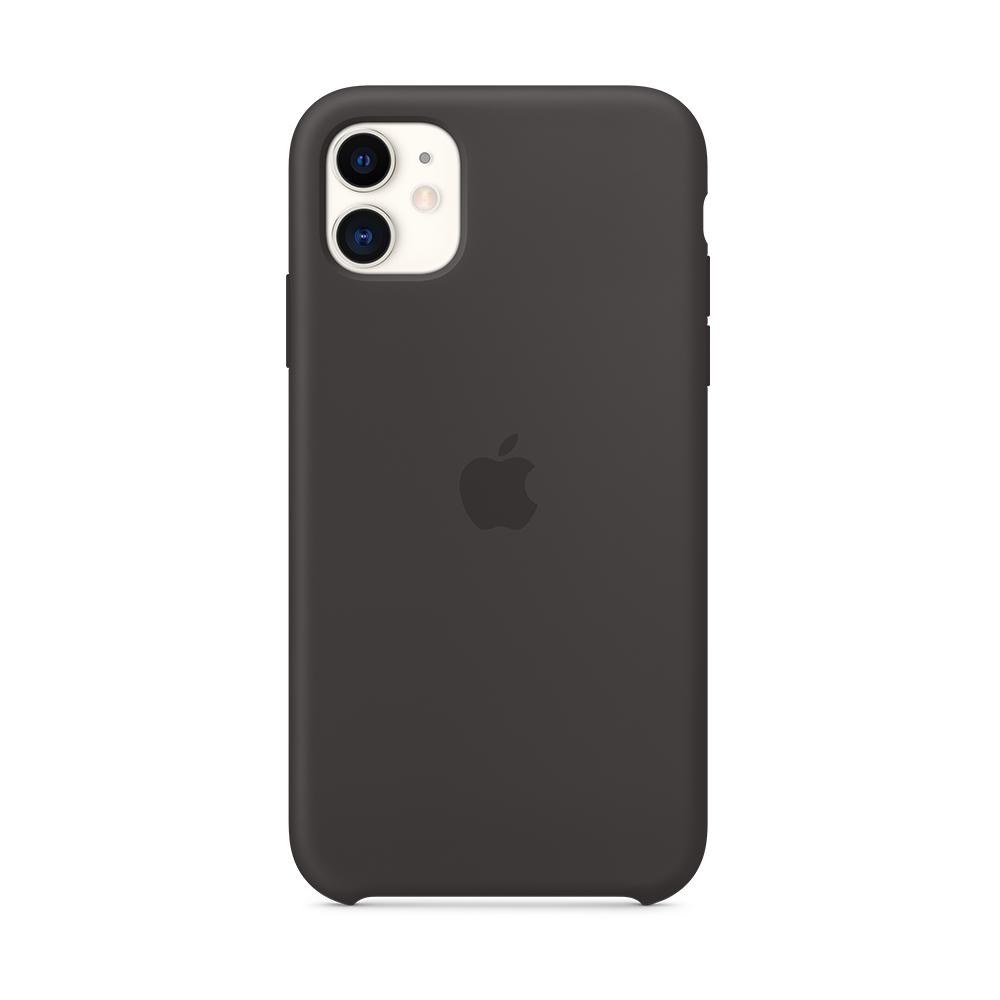 iPhone 11 실리콘 케이스 - 블랙 (MWVU2FE/A)