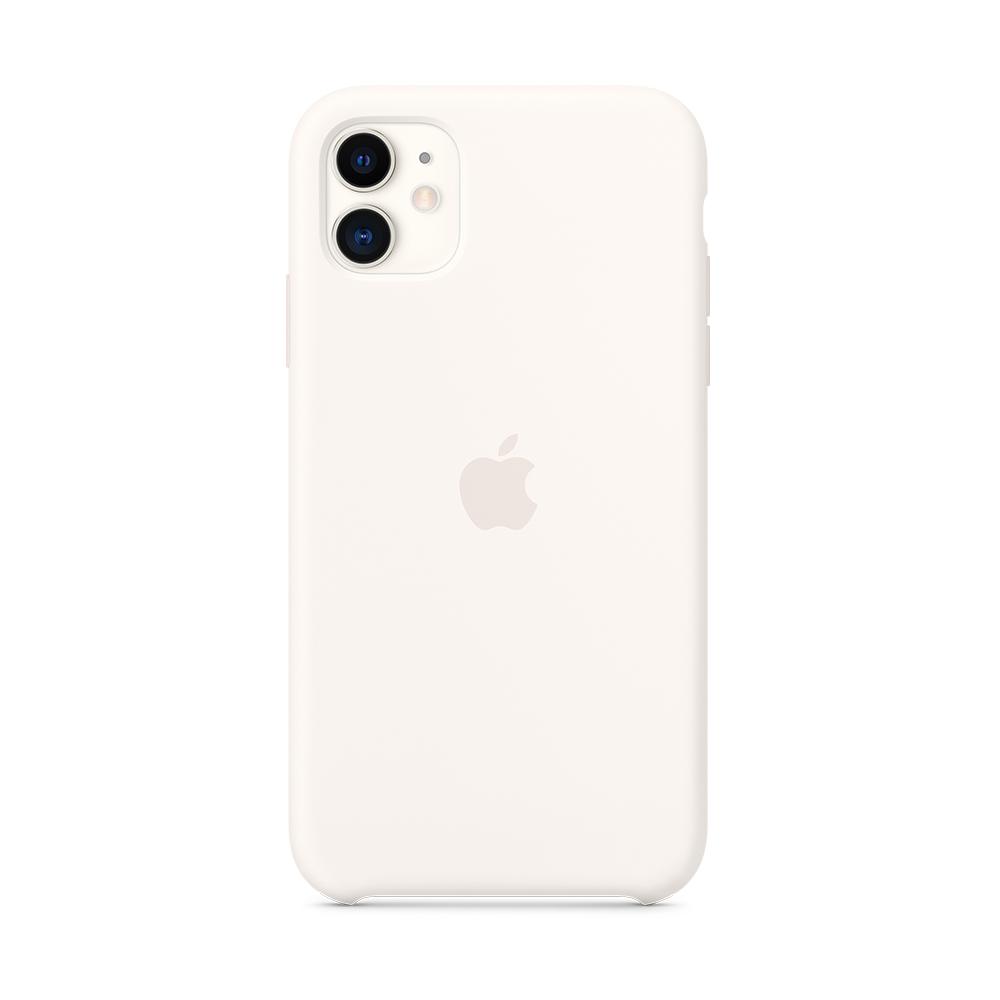 iPhone 11 실리콘 케이스 - 화이트 (MWVX2FE/A)