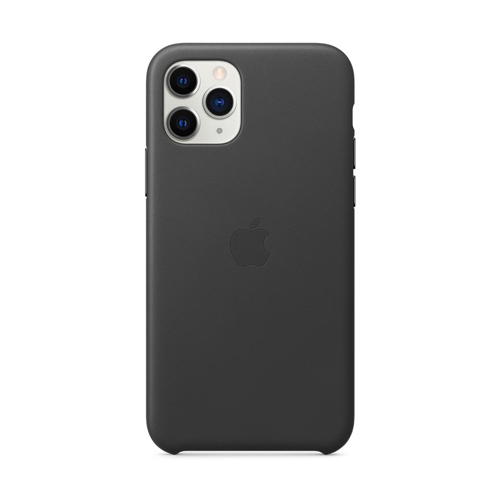 iPhone 11 Pro 가죽 케이스 - 블랙 (MWYE2FE/A)