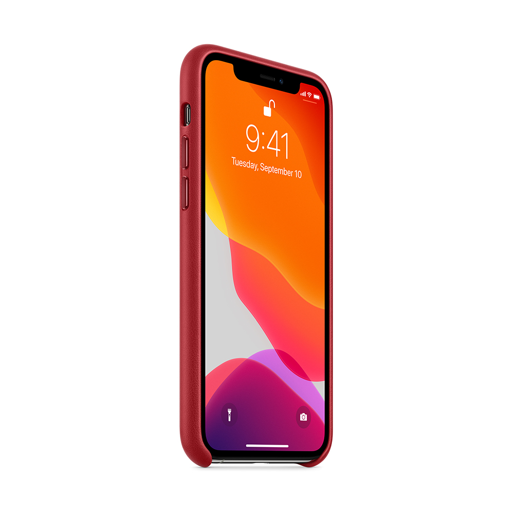 iPhone 11 Pro 가죽 케이스 - (PRODUCT)RED (MWYF2FE/A)