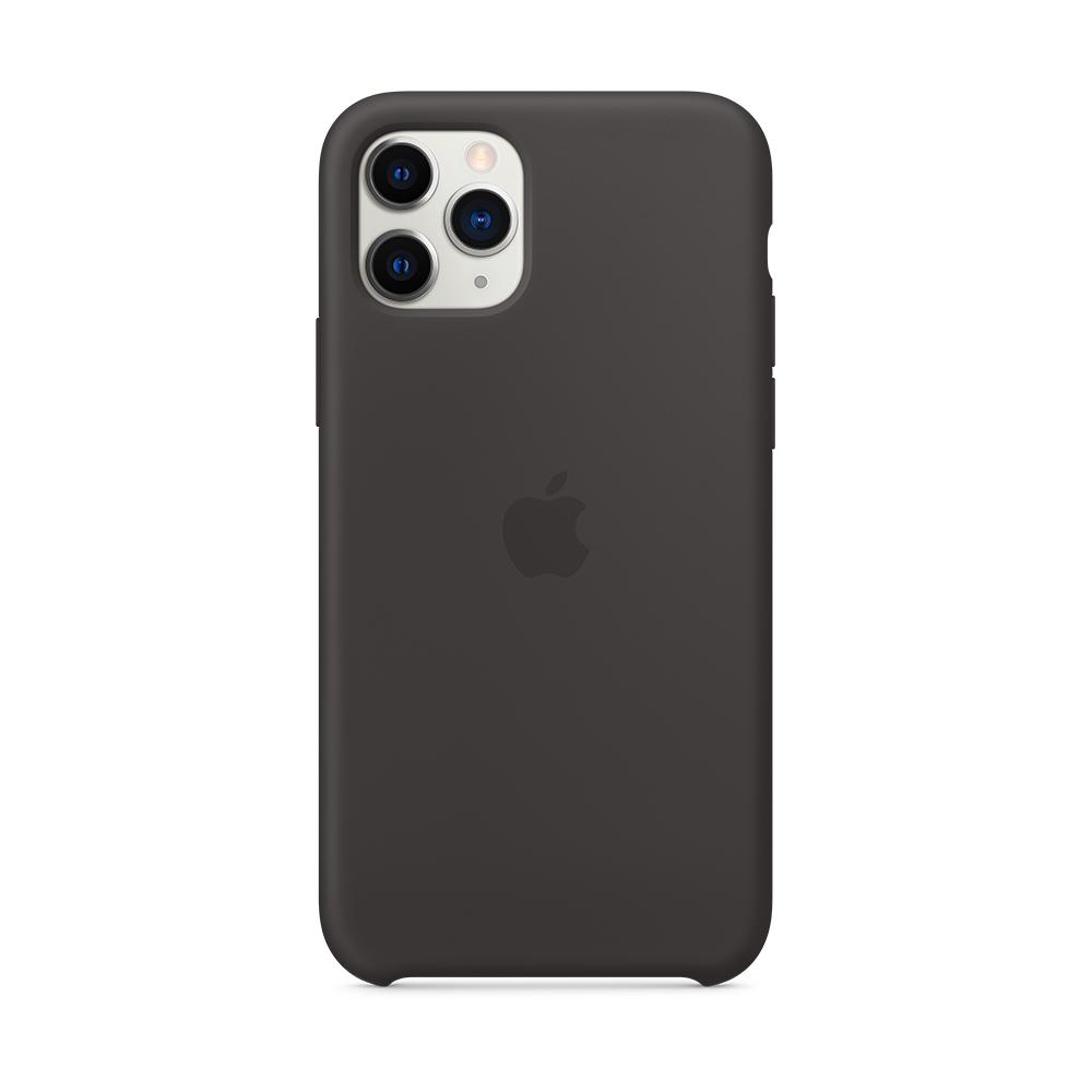 iPhone 11 Pro 실리콘 케이스 - 블랙 (MWYN2FE/A)