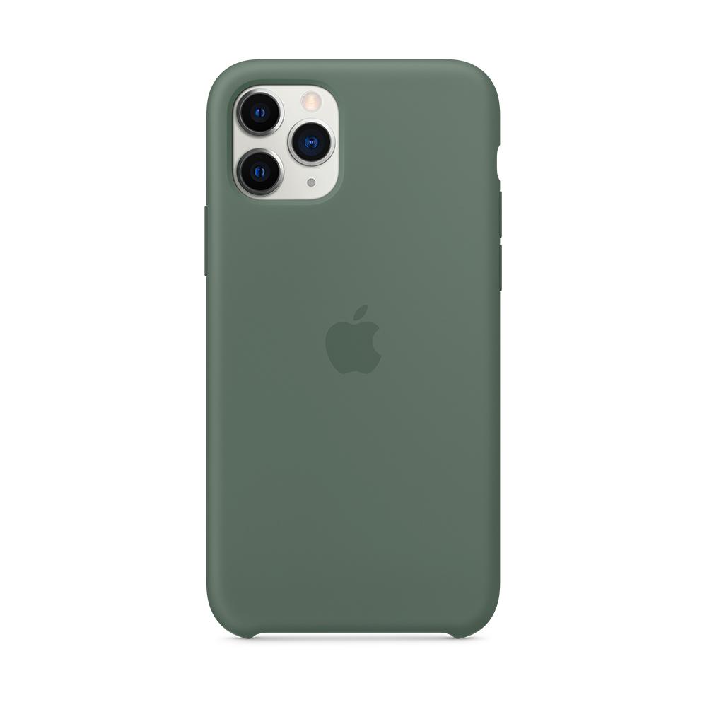 iPhone 11 Pro 실리콘 케이스 - 파인 그린 (MWYP2FE/A)