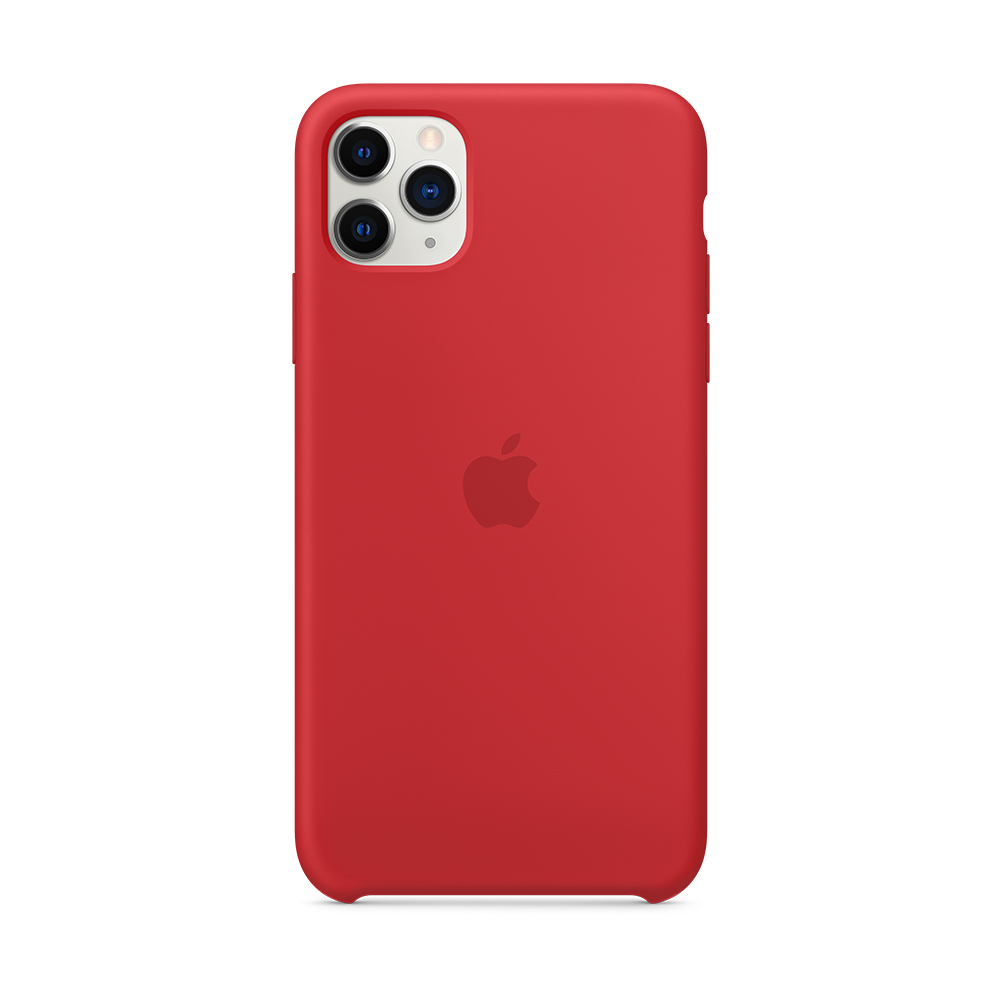 iPhone 11 Pro Max 실리콘 케이스 - (PRODUCT)RED (MWYV2FE/A)