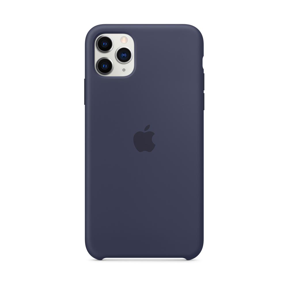 iPhone 11 Pro Max 실리콘 케이스 - 미드나이트 블루 (MWYW2FE/A)
