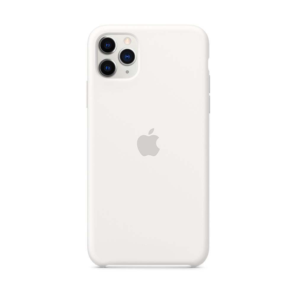 iPhone 11 Pro Max 실리콘 케이스 - 화이트 (MWYX2FE/A)
