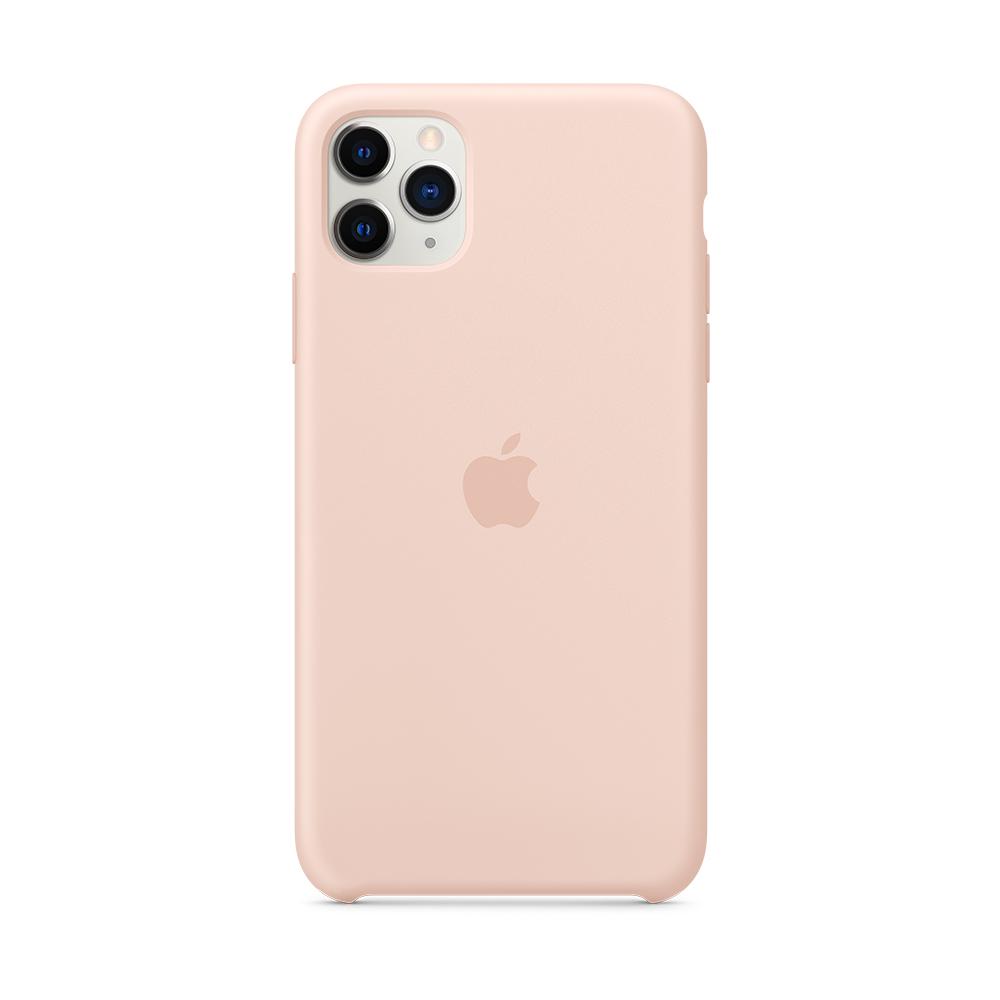iPhone 11 Pro Max 실리콘 케이스 - 핑크 샌드 (MWYY2FE/A)
