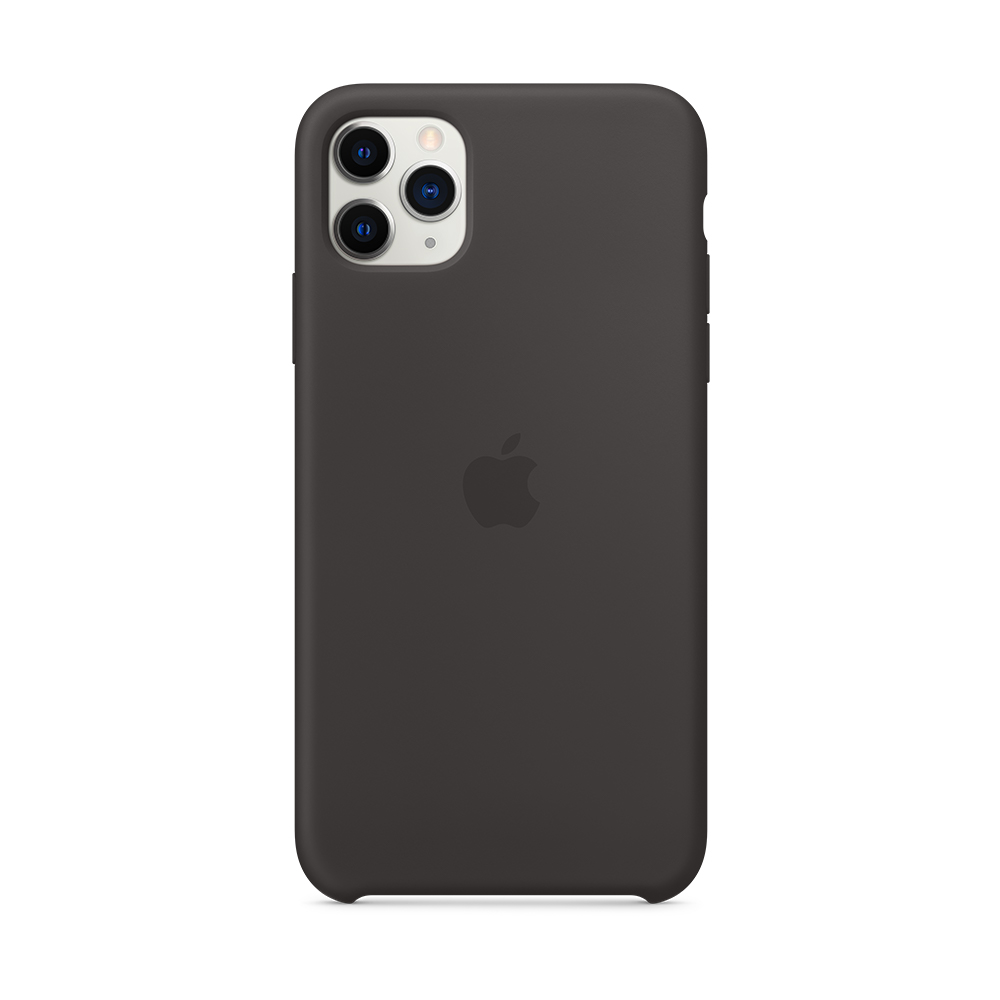 iPhone 11 Pro Max 실리콘 케이스 - 블랙 (MX002FE/A)